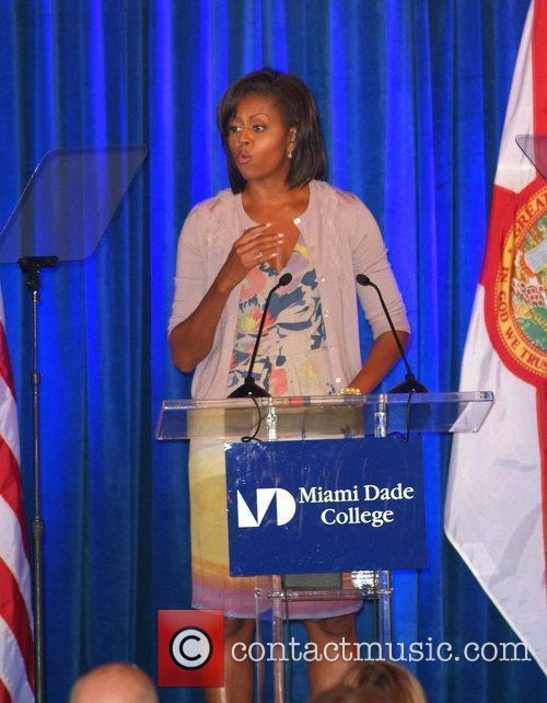 United States of America's First Lady Michelle Obama...