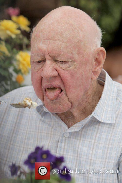 Mickey Rooney legendary actor having lunch at The...