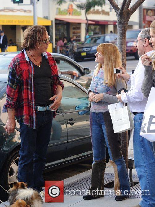 Mickey Rourke talking to fans  Los Angeles,...