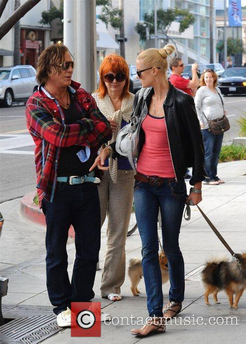 Mickey Rourke out and about with friends Los...