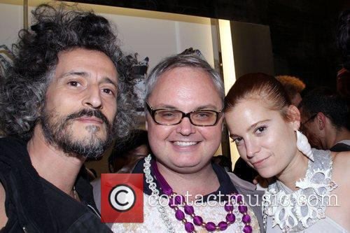 Gabi, Mickey Boardman and Adi Paper Magazine and...