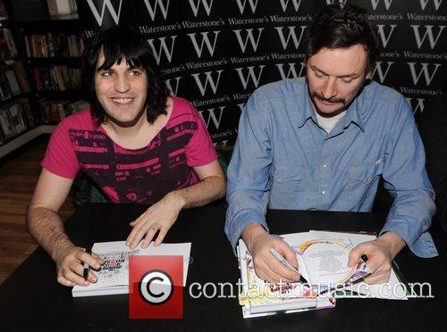 At a booksigning at Waterstone's, Piccadilly,