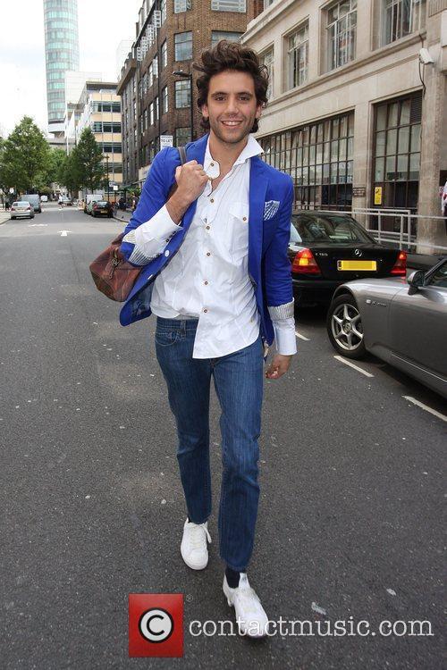Mika leaving the BBC Radio One studios London,...