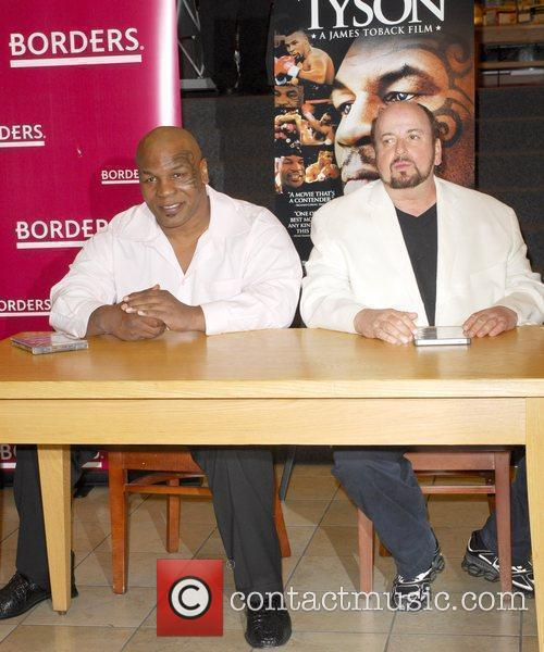Mike Tyson, Director James Toback Signing Copies Of The Blu-ray, Dvd 'tyson' At Borders Sunset and Vine 7