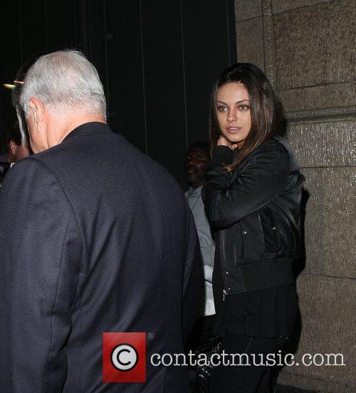 Mila Kunis leaving Katsuya restaurant Los Angeles, California
