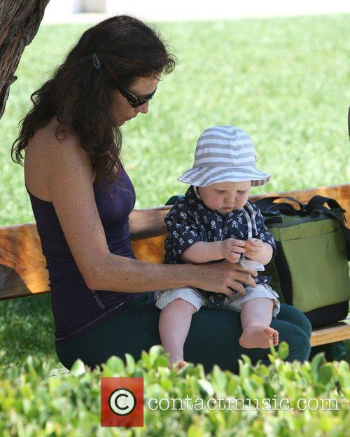 Minnie Driver and Son Henry 5