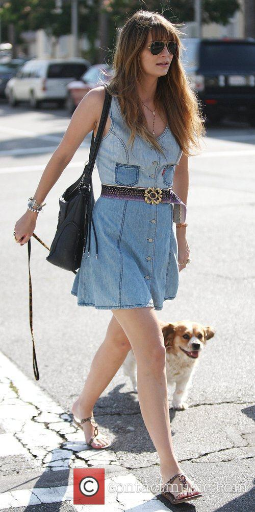 Mischa Barton on her way to a business...