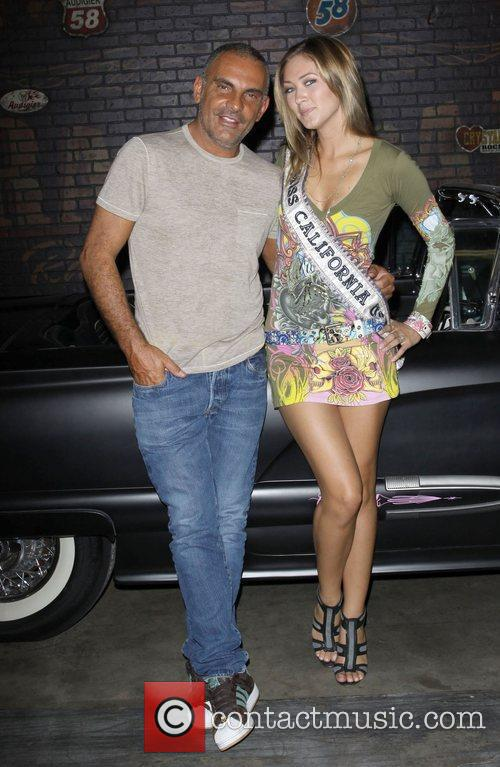 Miss California Tami Farrell and Christian Audigier attend...