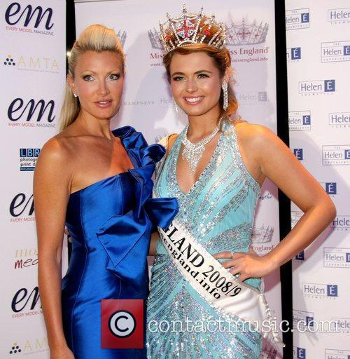 Caprice and Laura Coleman, Miss England 2008...