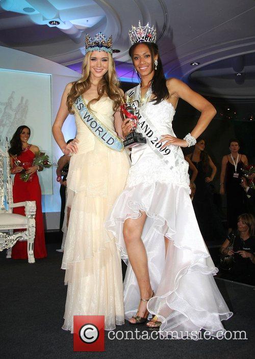 Ksenia Sukhinova and Rachel Christie Miss England 2009...