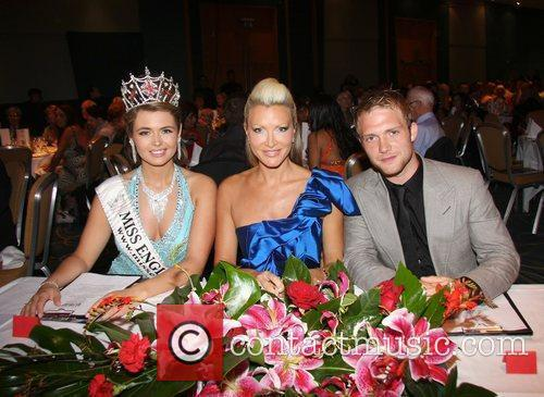 Laura Coleman, Caprice and Chris Fountain Miss England...