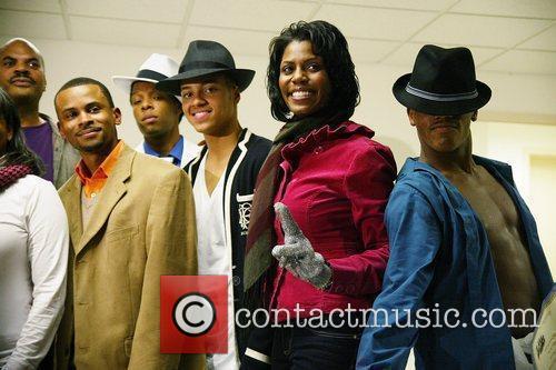 Omarosa Manigault-Stallworth and contestants Michael Jackson Talent Contest...