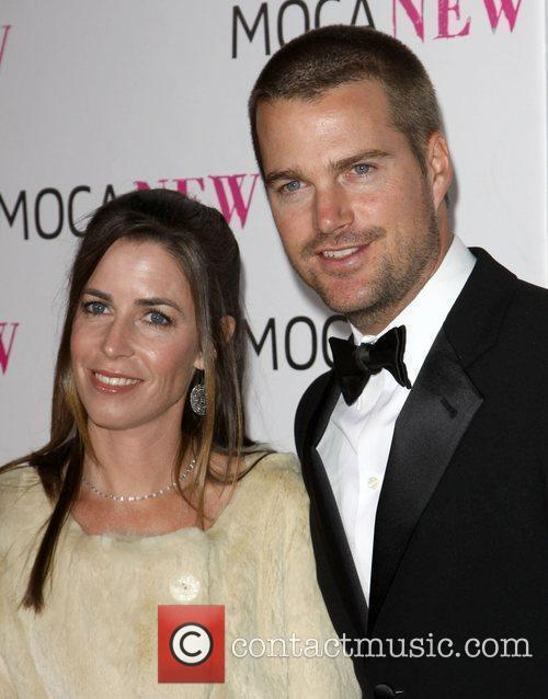 Chris O' Donnell and wife Caroline O' Donnell...