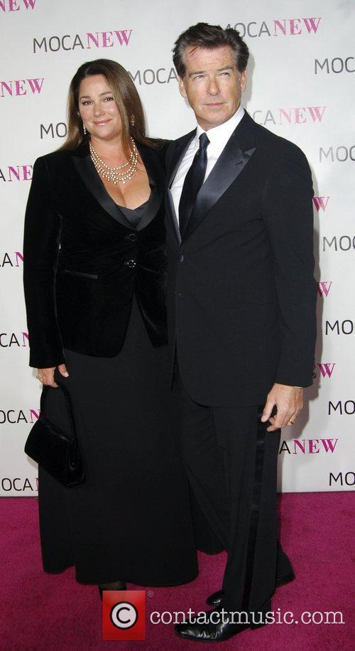 Pierce Brosnan and wife arrives at the MOCA...