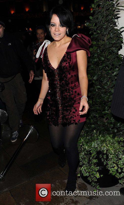 Lily Allen The Morgan Awards 2009 - Departures...
