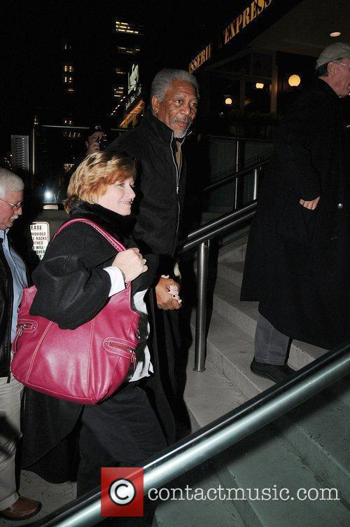 Morgan Freeman arriving with a friend for the...