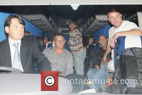 Katie Price and Friends On A Minibus Leaving Movida 6