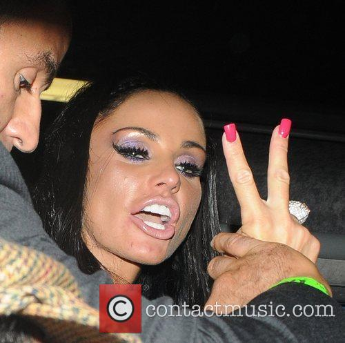 Katie Price and Friends On A Minibus Leaving Movida 7