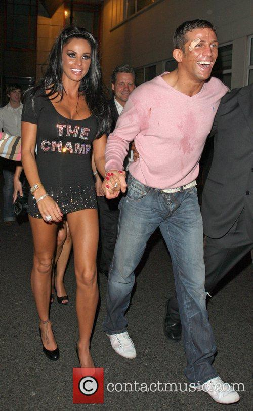 Katie Price and Alex Reid Leaving Movida Through The Back Door Where They Celebrated His Cage-fighting Victory Earlier In The Evening. 1