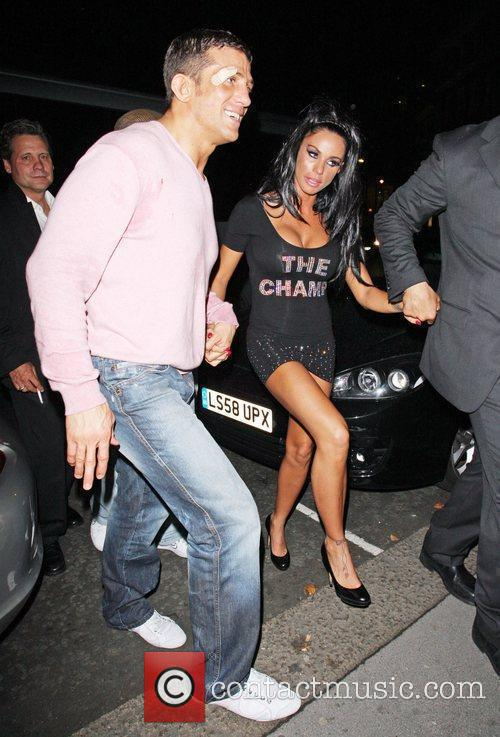 Katie Price and Alex Reid Leaving Movida Through The Back Door Where They Celebrated His Cage-fighting Victory Earlier In The Evening. 9