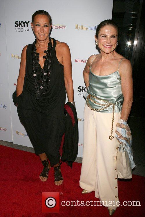 Donna Karen and Tovah Feldshuh Premiere of 'My...