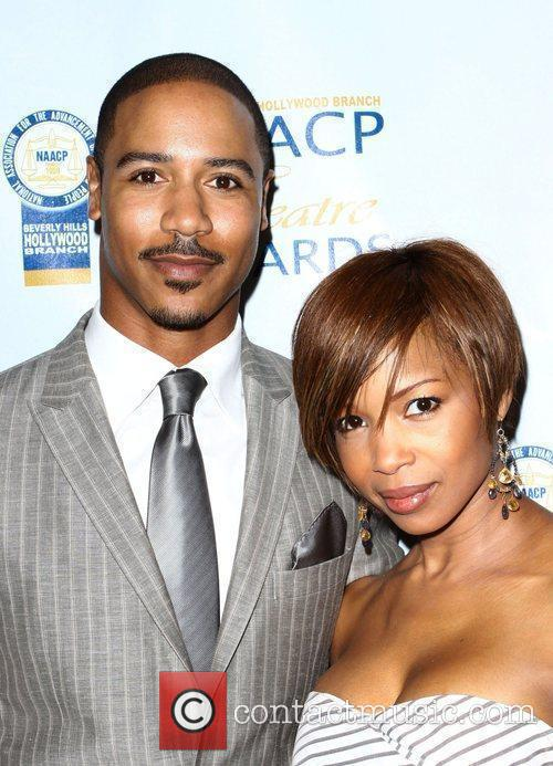 Brian White, Elise Neal NAACP Theatre Awards Press...