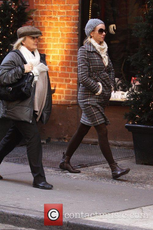 Naomi Watts and her mother, Miv Watts, out...