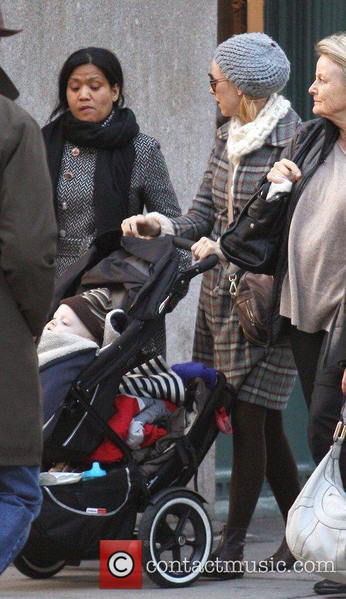 Naomi Watts out walking in SoHo with her...