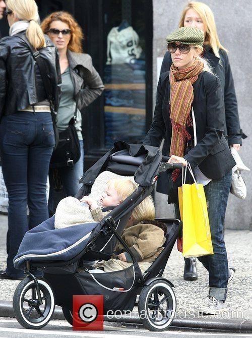 Naomi Watts and Liev Schreiber take their children...