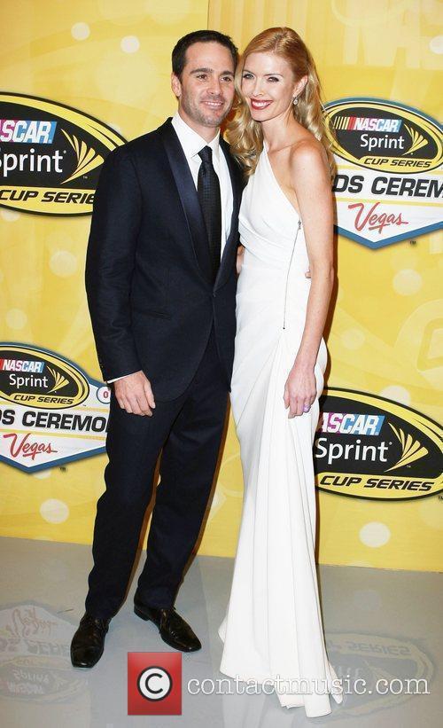 Jimmie Johnson and Chandra Johnson NASCAR Sprint Cup