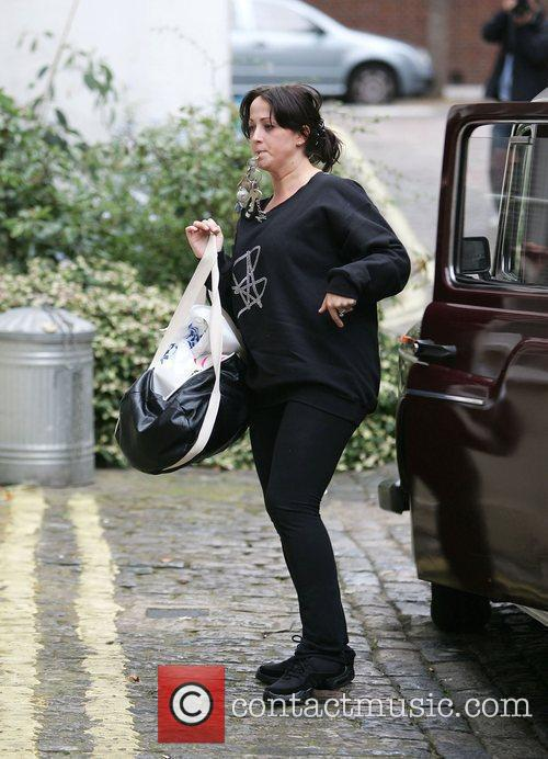 Natalie Cassidy arriving at her house London, England