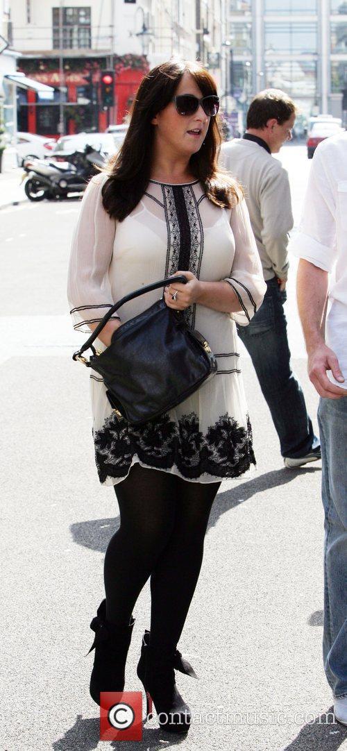 Natalie Cassidy shopping at Waitrose