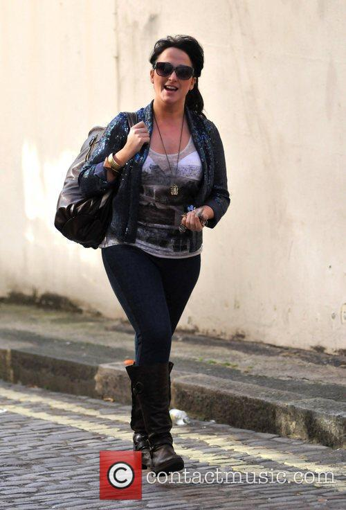 Natalie Cassidy after shopping at Marks and Spencers...