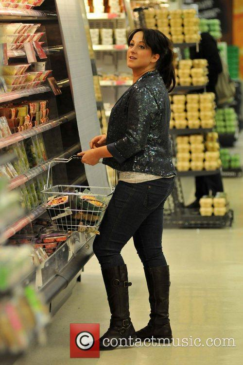 Natalie Cassidy shopping at Marks and Spencer London,...