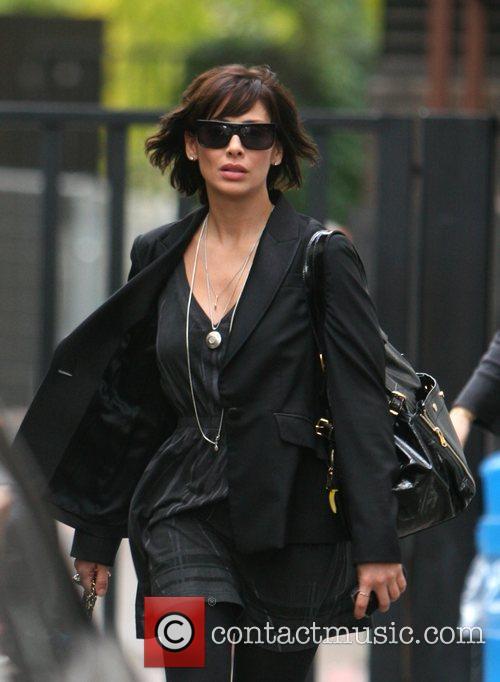 Natalie Imbruglia leaves the GMTV studios London, England