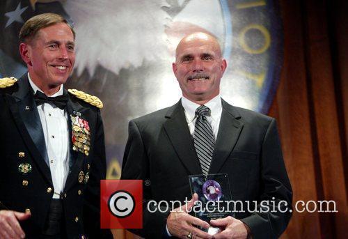 General David Petraeus and General Galvin are honored...