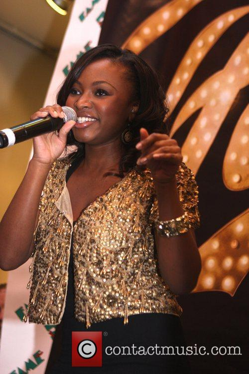 Naturi Naughton, From Fame, Signs Autographs and Performs At The Fame Music Store 4