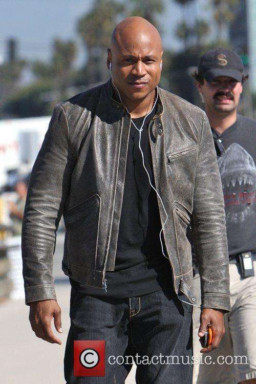LL Cool J on the set of his...