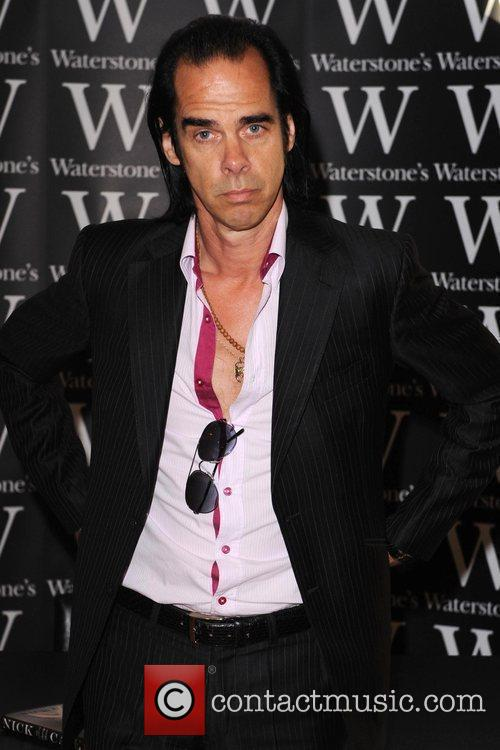 Nick Cave  signs copies of his new...