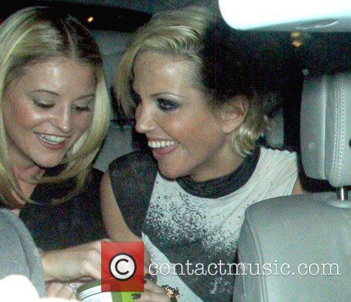 Nicola Stapleton and Sarah Harding sharing a joke...