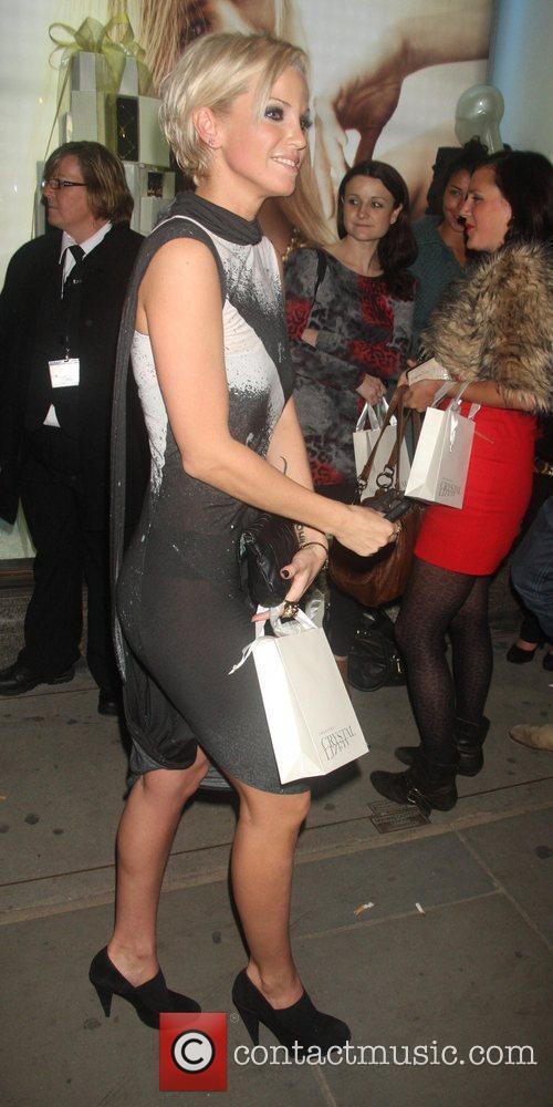Sarah Harding Nick Ede party at Swarovsky Store...