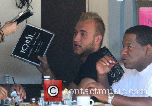 Nick Hogan Having Lunch At Toast On 3rd Street With His Public Relations Man 8