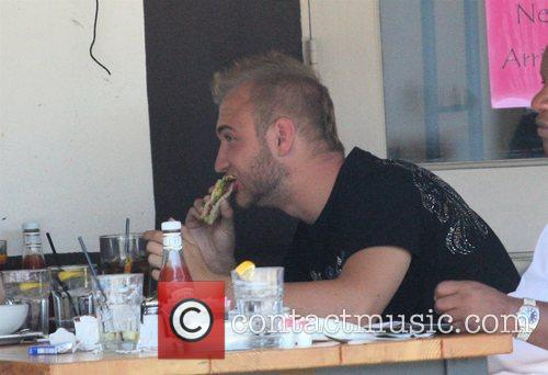Nick Hogan Having Lunch At Toast On 3rd Street With His Public Relations Man 11