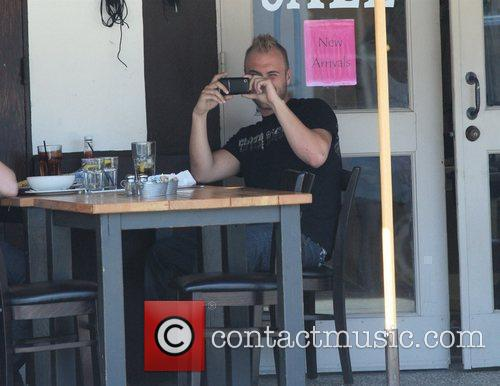 Nick Hogan Having Lunch At Toast On 3rd Street With His Public Relations Man 10