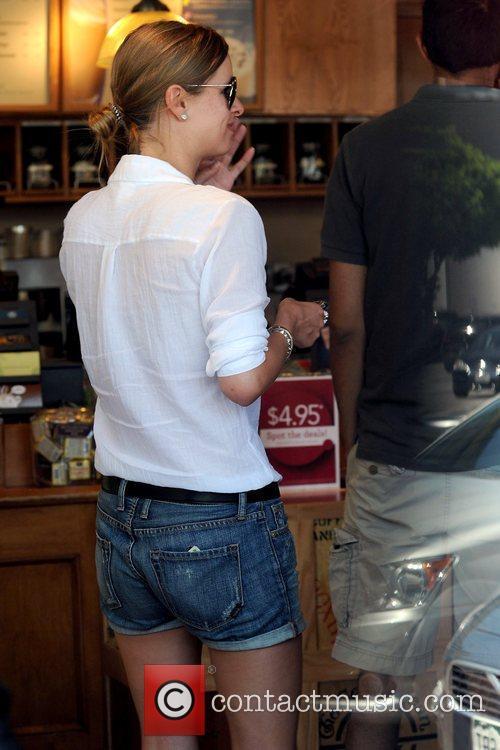 Nicky Hilton outside The Coffee Bean & Tea...
