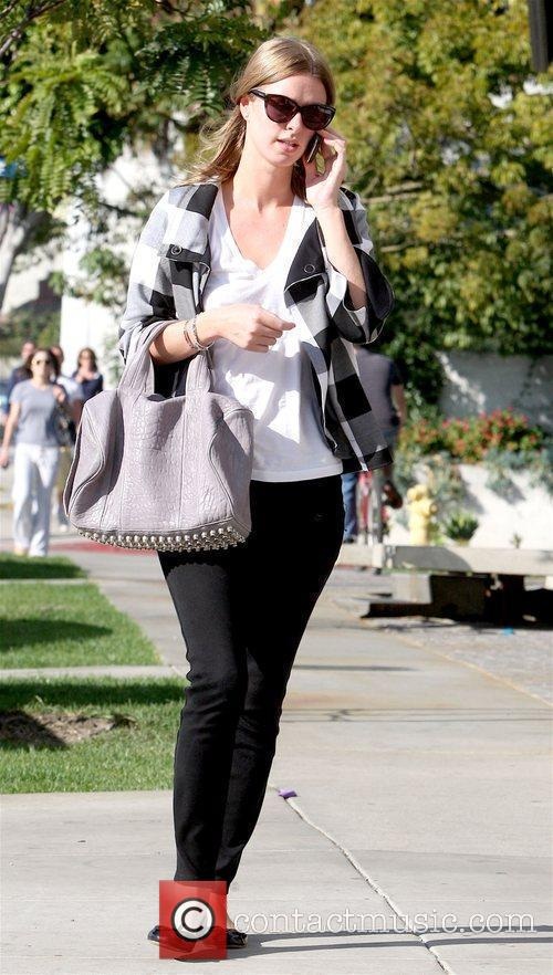 Nicky Hilton talking on her cell phone in...