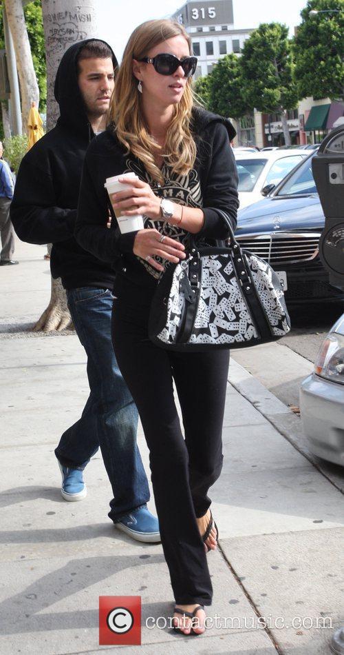 Nicky Hilton with her boyfriend David Katzenberg having...