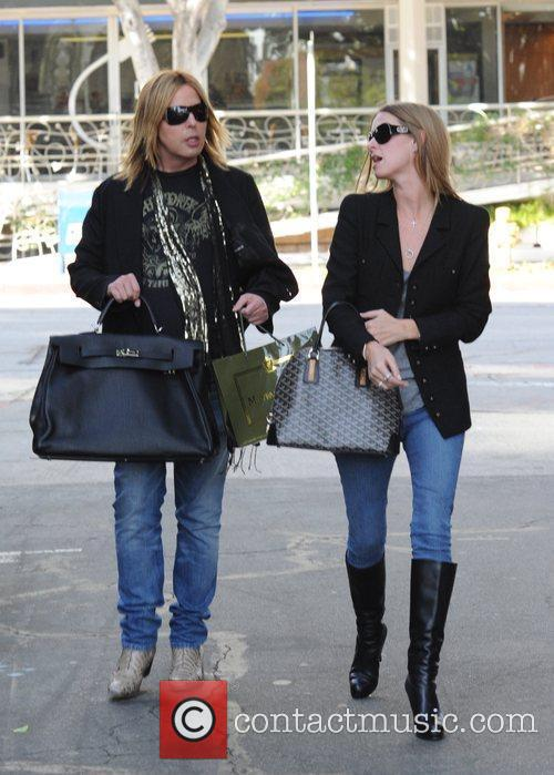 Steven Cojocaru and Nicky Hilton shopping at Mayfair...