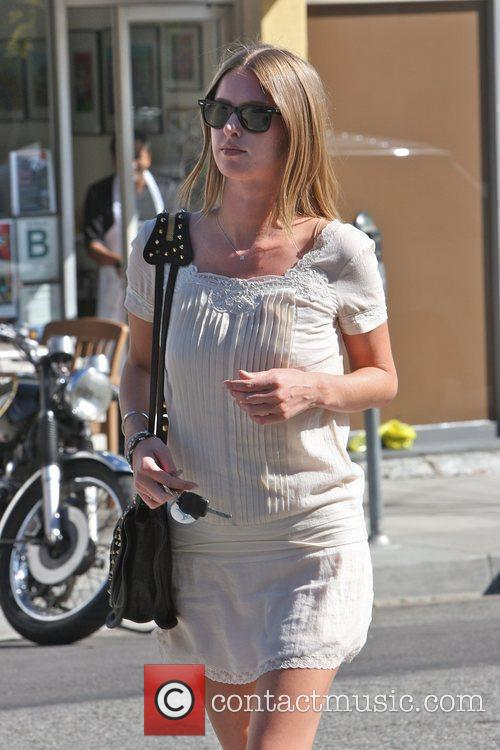 Nicky Hilton leaving Ed's Coffee Shop in West...