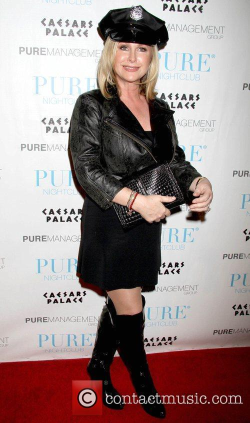 Kathy Hilton celebrates Halloween at Pure Nightclub inside...